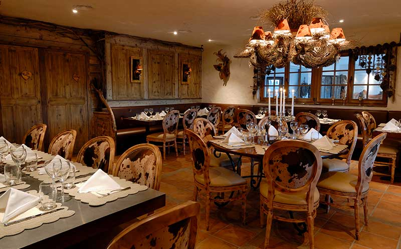 View of the restaurant Le Plantin in Méribel.