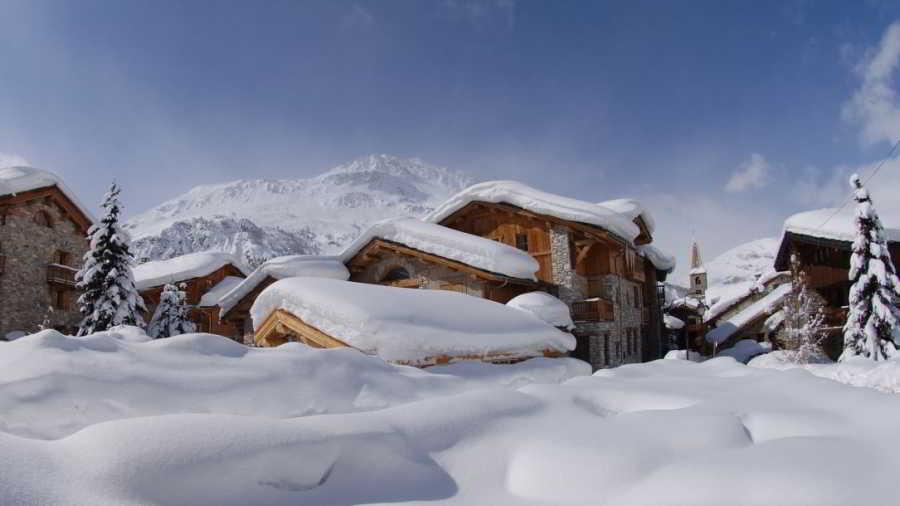 Val d'Isère wonderful snowy landscape picture