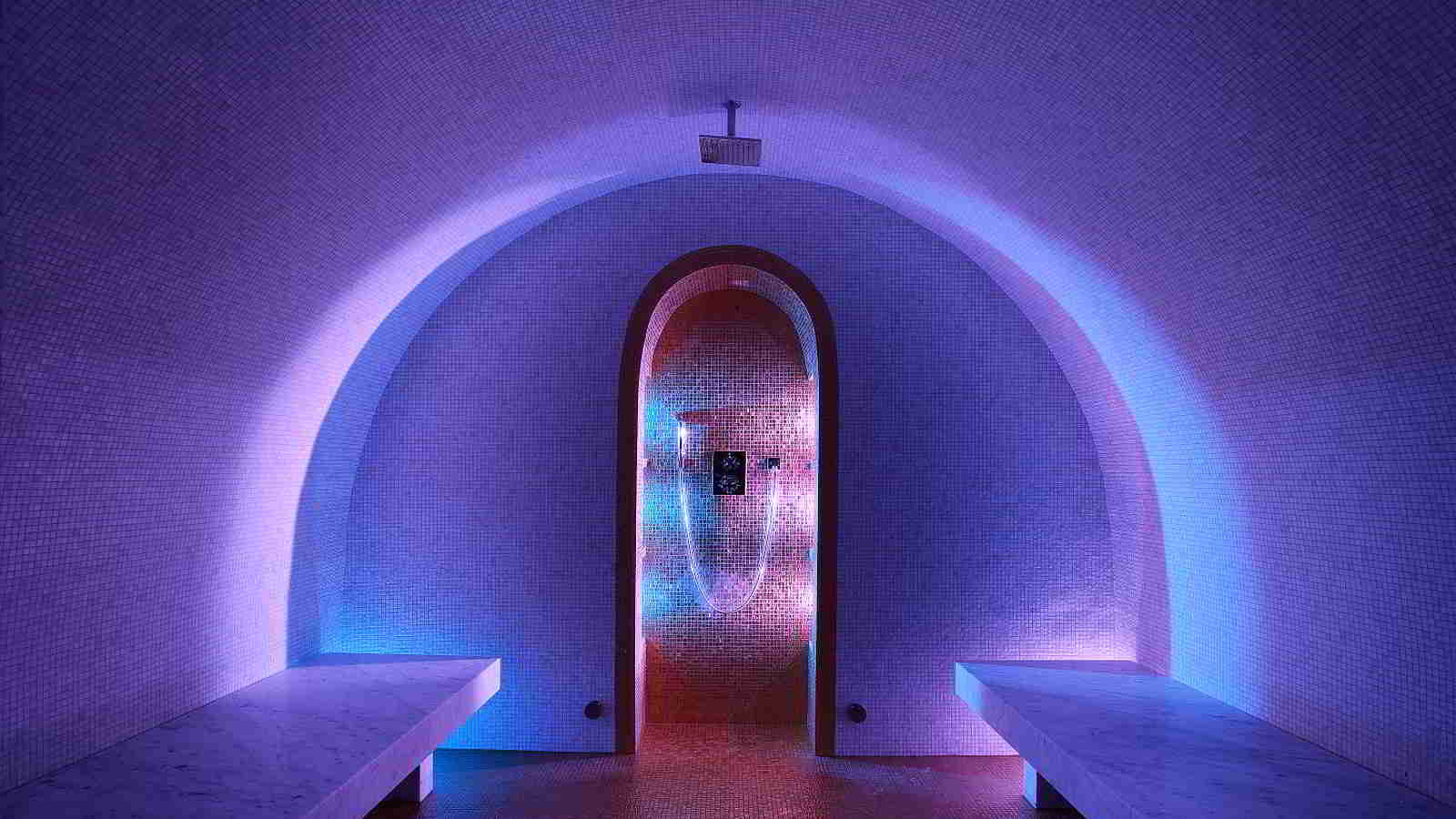 Amazing Hammam at Luxury Chalet Marco Polo Val d'Isère, Sleep 10 adults and 2 children luxury chalet rental Val d'Isère with In-Luxe Chalets France